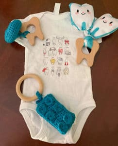 onsie and dental related gifts or the baby